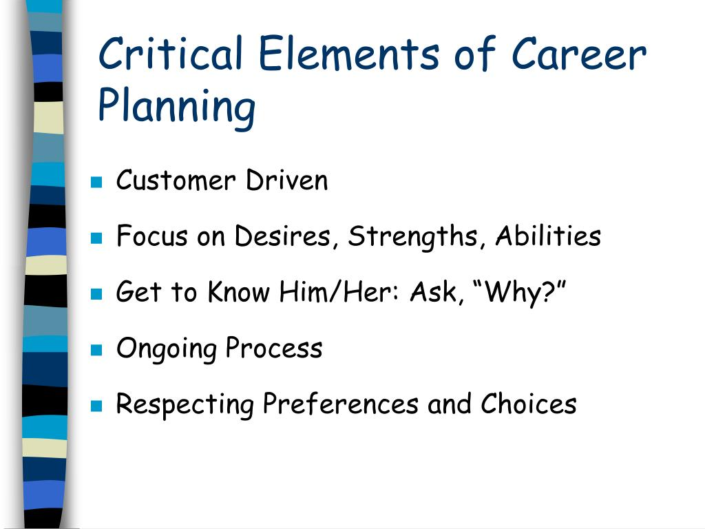 Critical Elements of Career Planning