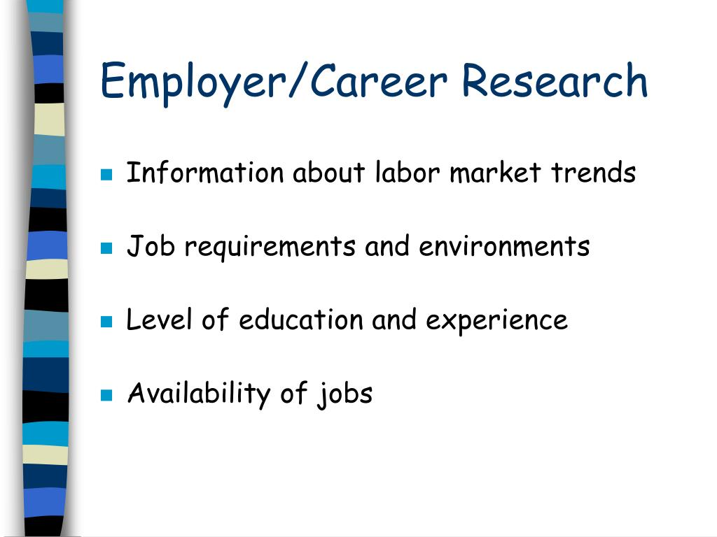 Employer/Career Research