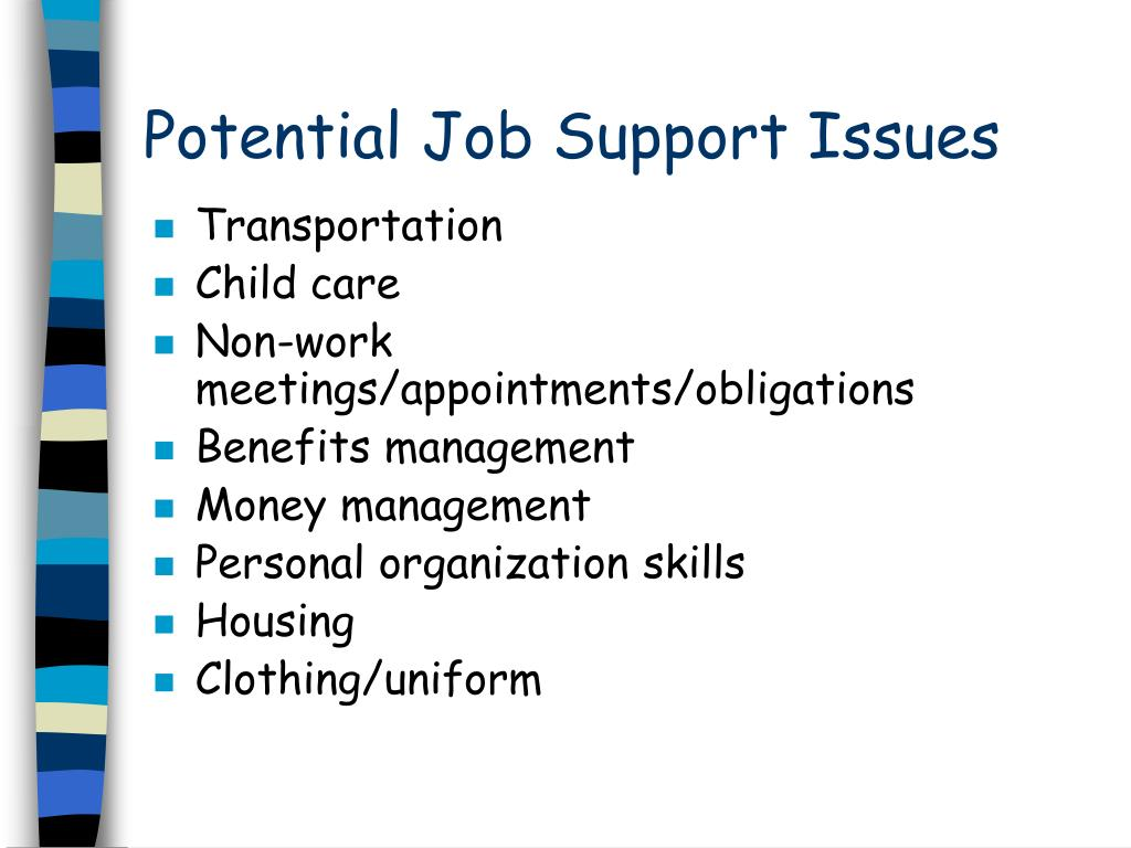 Potential Job Support Issues