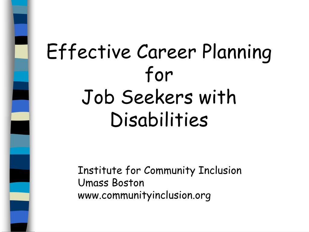 Effective Career Planning