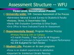 assessment structure wfu