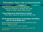 information flow link to improvement