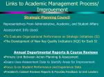 links to academic management process improvement