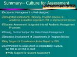 summary culture for assessment1