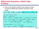 differential equations initial value problem