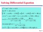solving differential equation