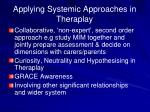 applying systemic approaches in theraplay
