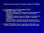 attachment narrative therapy dallos vetere1