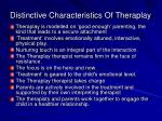 distinctive characteristics of theraplay