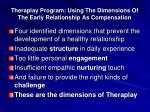 theraplay program using the dimensions of the early relationship as compensation