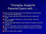theraplay supports parents carers with