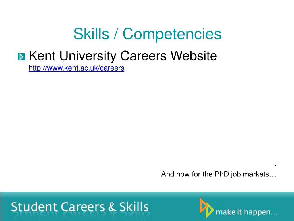 Skills / Competencies