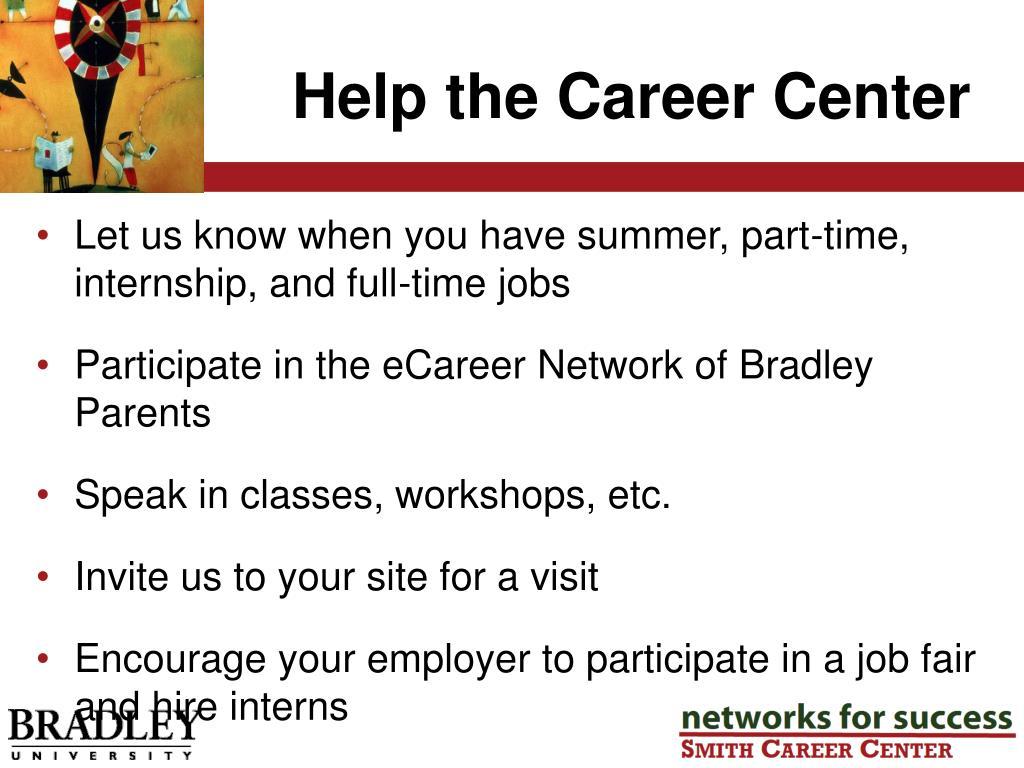 Help the Career Center