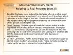 most common instruments relating to real property cont d1