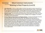 most common instruments relating to real property cont d3