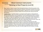 most common instruments relating to real property cont d5