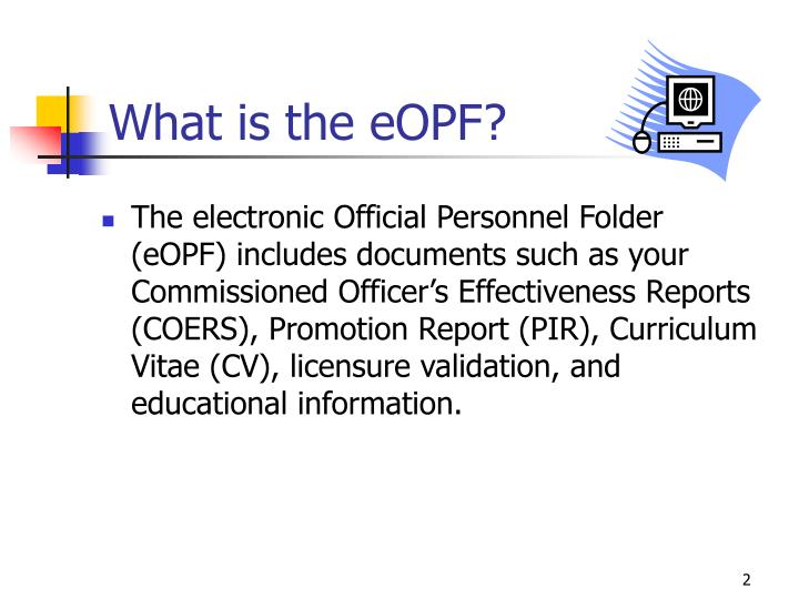 What is the eopf