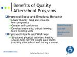 benefits of quality afterschool programs1