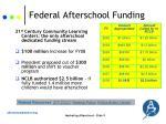 federal afterschool funding
