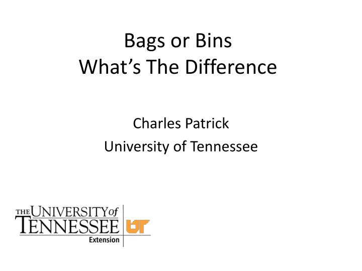 bags or bins what s the difference n.