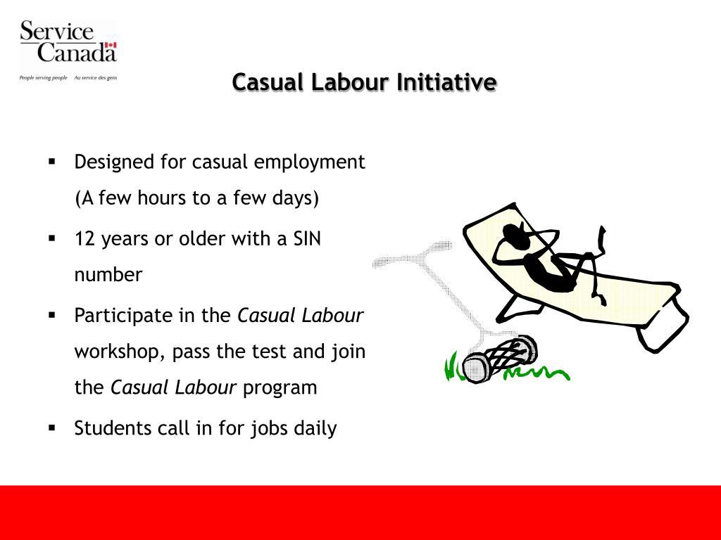 Casual Labour Initiative