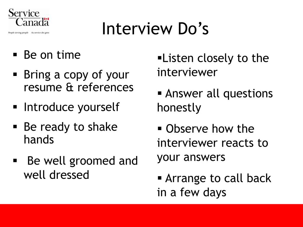 Interview Do's