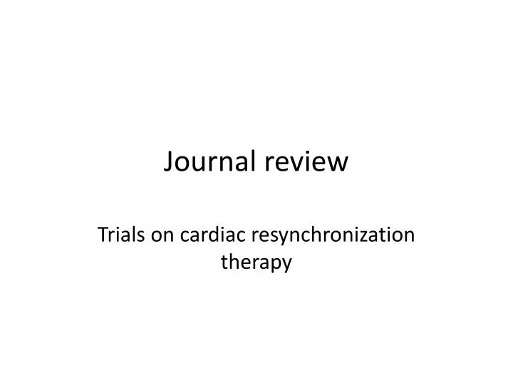 journal review n.