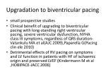 upgradation to biventricular pacing