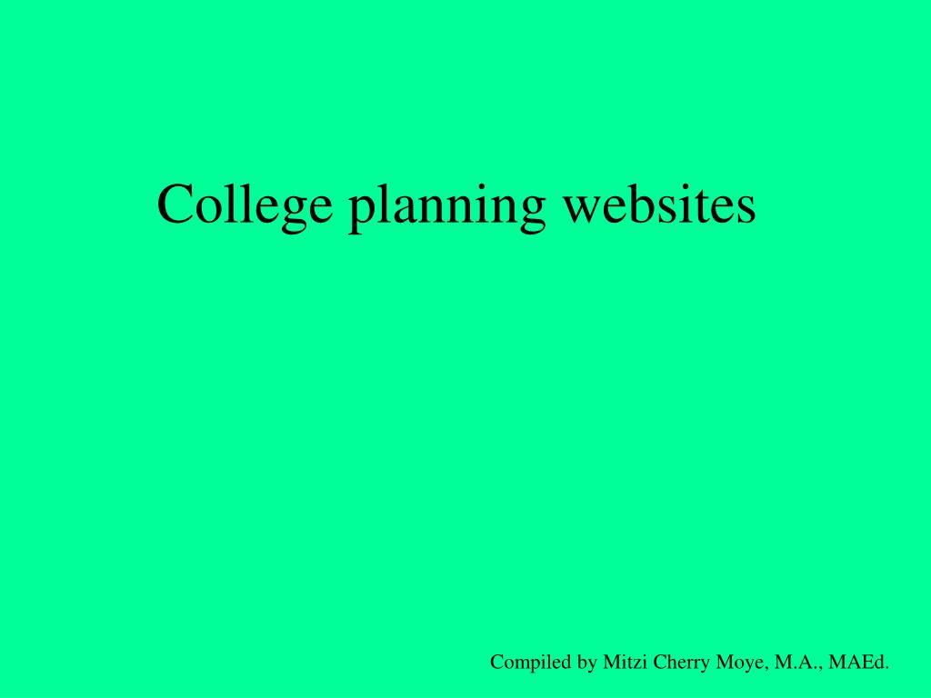 College planning websites