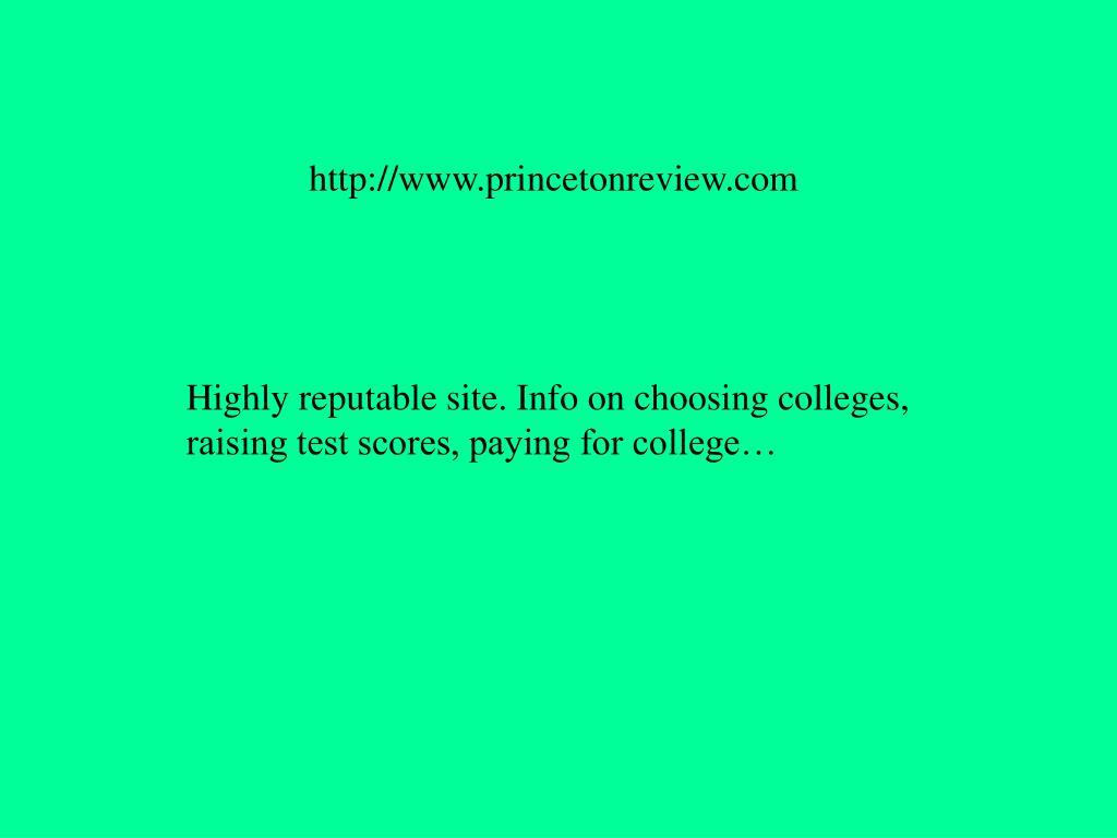 http://www.princetonreview.com