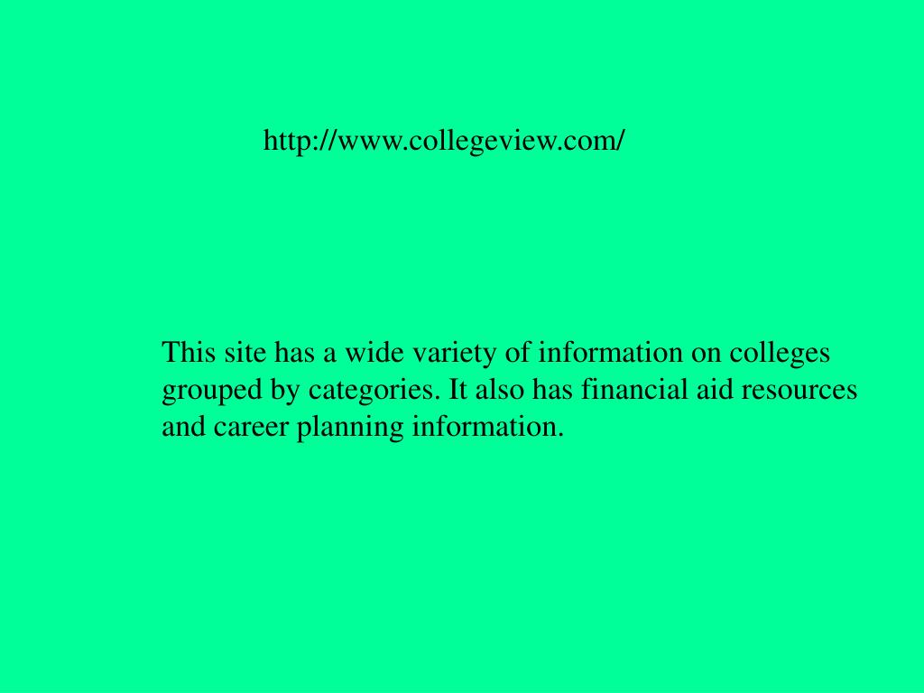 http://www.collegeview.com/