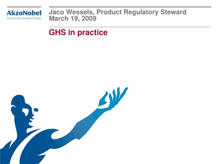 jaco wessels product regulatory steward march 19 2009 n.