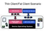 thin client fat client scenario