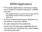 wpan applications