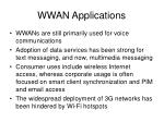 wwan applications