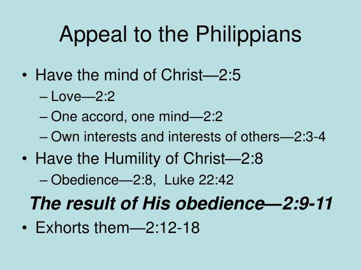 Appeal to the philippians