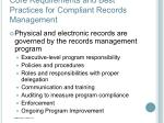 core requirements and best practices for compliant records management