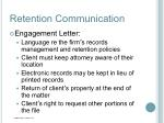 retention communication