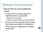 retention communication1
