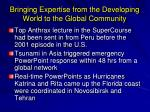 bringing expertise from the developing world to the global community