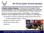 air force cyber control system