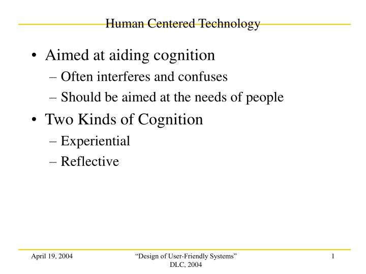 human centered technology n.