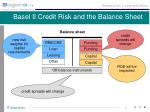 basel ii credit risk and the balance sheet