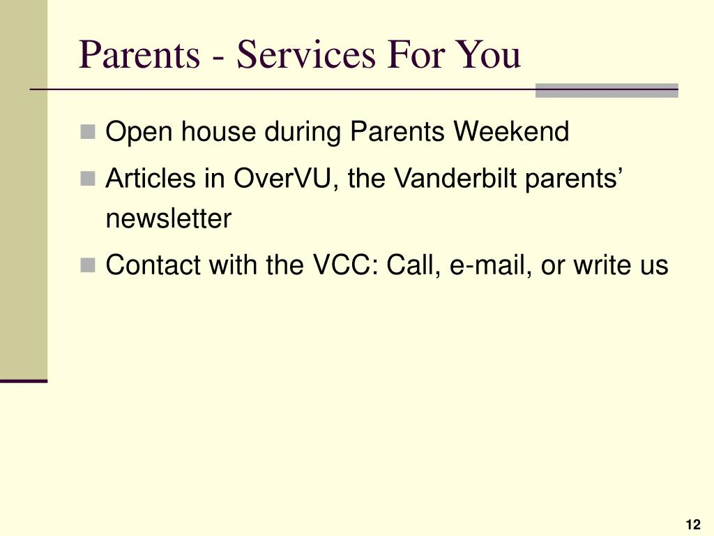 Parents - Services For You