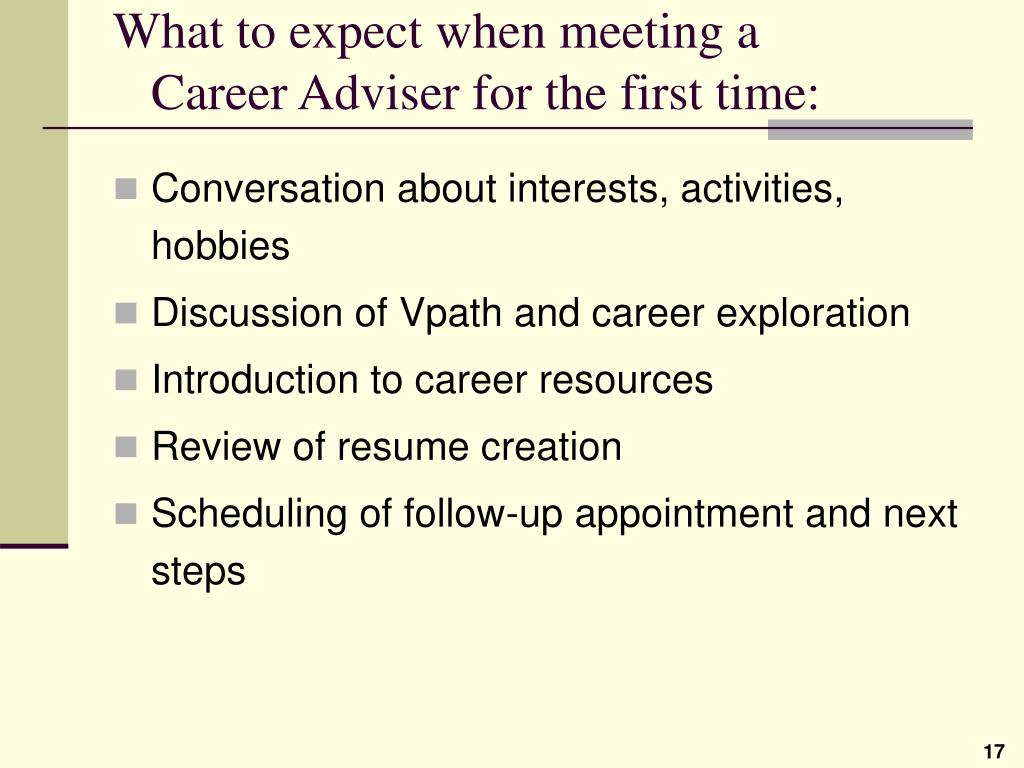 What to expect when meeting a