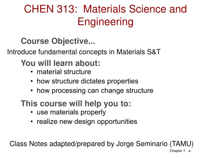 chen 313 materials science and engineering n.