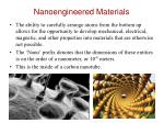 nanoengineered materials