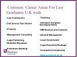 common career areas for law graduates u k wide