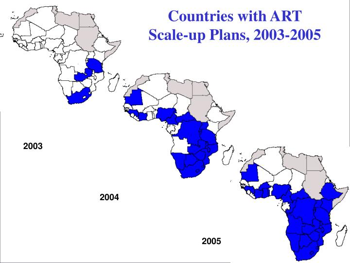 Countries with ART