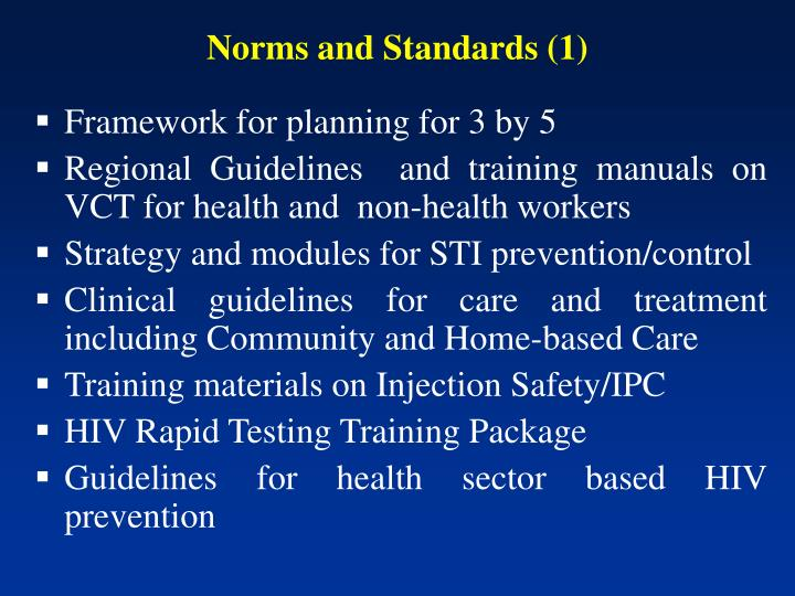 Norms and Standards (1)